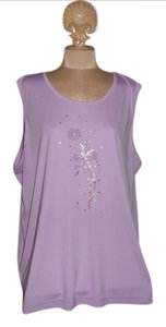 Allison Daley Top Lavender With Beautiful Beeding