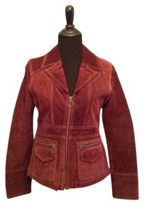 Wilsons Leather Suede Maroon Jacket