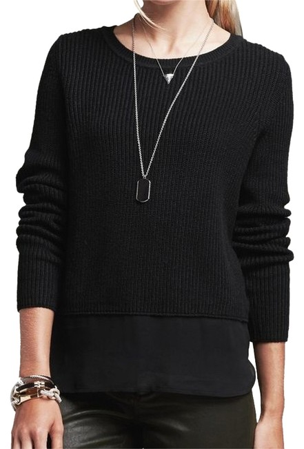 Preload https://img-static.tradesy.com/item/9133804/banana-republic-black-sheer-panel-sweaterpullover-size-8-m-0-3-650-650.jpg