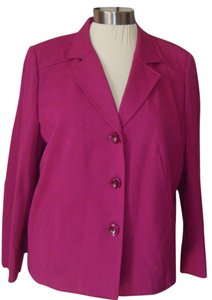 Talbots BURGUNDY DARKER THAN PICTURE Blazer