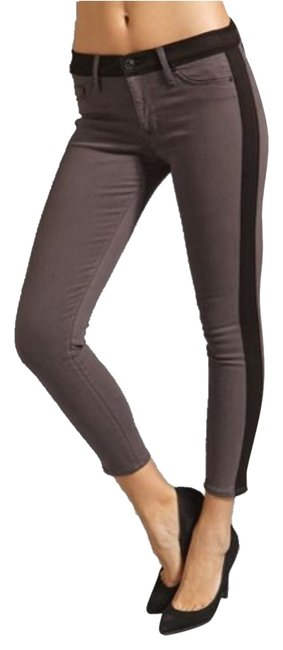Item - Grey and Black Leeloo Super Skinny Crop Capri/Cropped Jeans Size 28 (4, S)