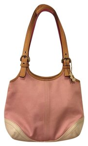 Coach Magenta Leather Satchel in Pink