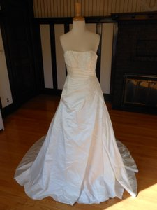 Pronovias Ivory Satin Uxue Destination Wedding Dress Size 16 (XL, Plus 0x)