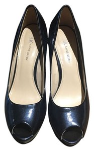 Anne Klein Navy Platforms