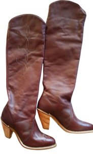 Capezio Tall Western-inspired Burgundy Boots