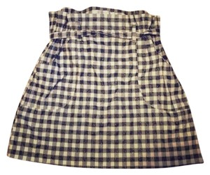 MINKPINK Plaid Mini Skirt Black & White