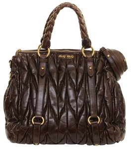 Miu Miu Tote in Dark Brown