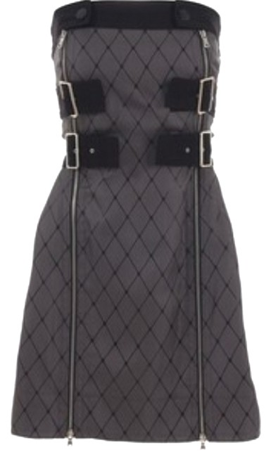 Preload https://img-static.tradesy.com/item/9135478/marc-by-marc-jacobs-greyblack-runway-fishnet-badass-buckles-zipper-above-knee-night-out-dress-size-2-0-2-650-650.jpg