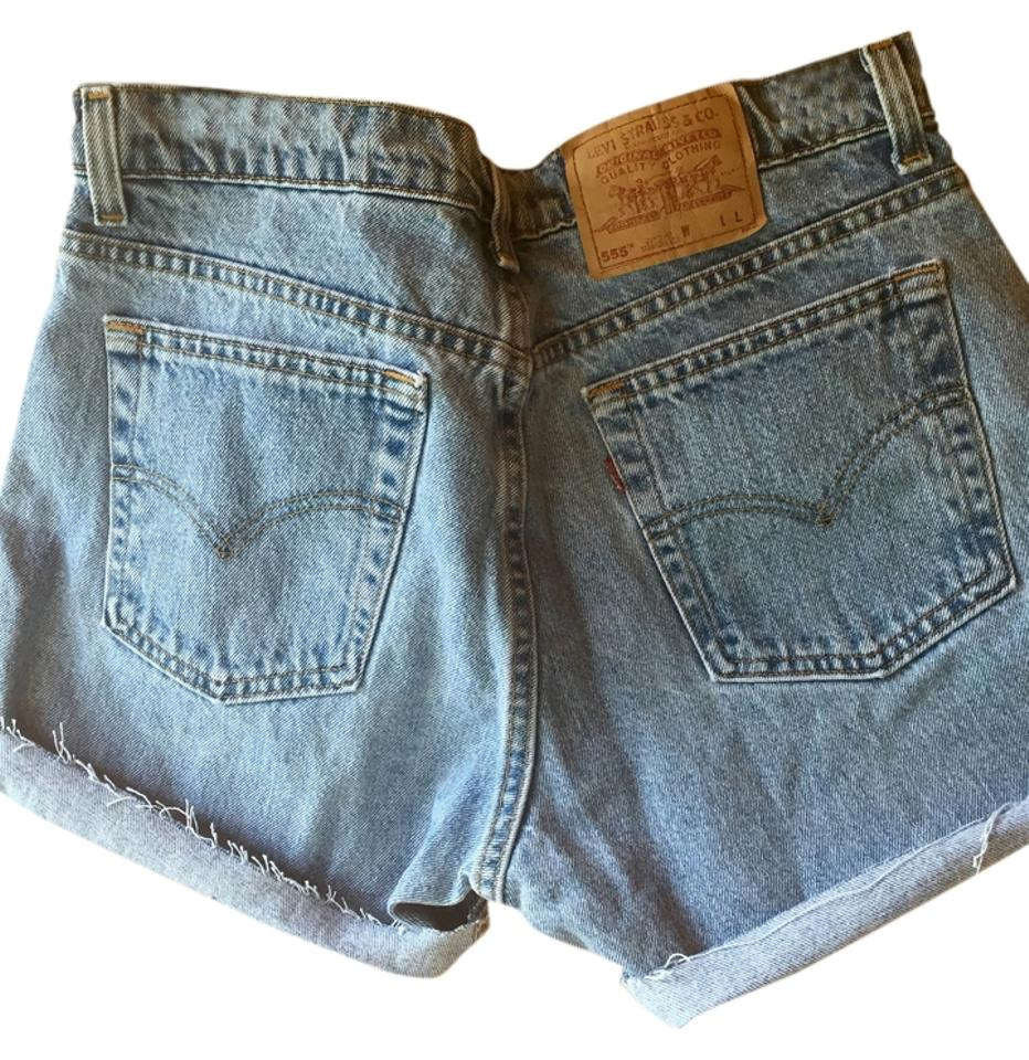 26455f83 Levi's Light Wash 555 High Rise Denim Made Usa Sz10 Jrs13 30 Shorts. Size: 8  ...