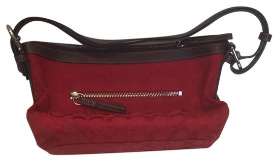 Preload https://img-static.tradesy.com/item/9135844/coach-outside-zippered-pocket-red-with-brown-accents-canvas-satchel-0-1-540-540.jpg