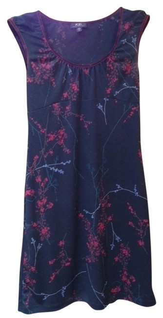BCBGMAXAZRIA short dress black with flower print on Tradesy