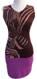 Missoni short dress BROWN AND PURPLE on Tradesy