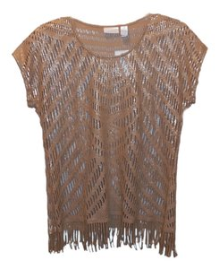 Chico's Chicos Fringed Foiled Sweater