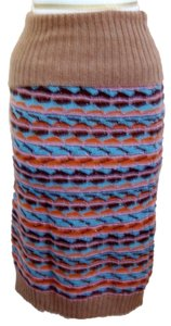 M Missoni Skirt BEIGE, ORANGE, BLUE AND SILVER THREAD
