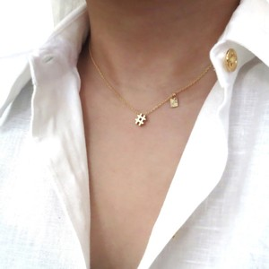Elliot Francis Gold Hashtag necklace