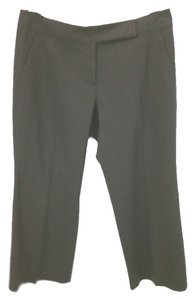 Elie Tahari Stretchy Wool Cropped Capri/Cropped Pants BLACK