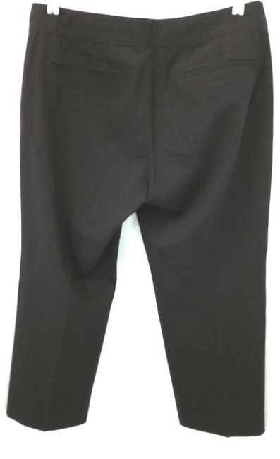Elie Tahari Stretchy Wool Capri/Cropped Pants BLACK