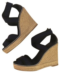 Tory Burch Adonis Wedge Black & blue Wedges