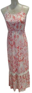 pink floral Maxi Dress by Mossimo Supply Co. Maxi Maxi Summer Spring Racerback Long