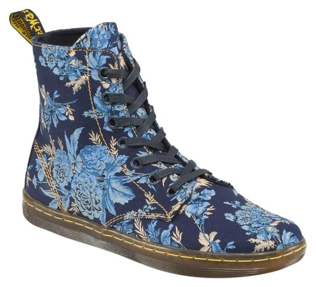 Item - Blue Jouy Floral Hackney Boots/Booties Size US 9 Regular (M, B)