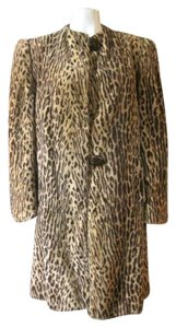 Vintage 1940s Faux Fur Swing Faux Leopard Faux Cheetah Faux Ocelot Cocktail Party Vintage Old Hollywood Hollywood Glamour Glam Fake Fur Coat