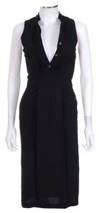 Burberry London short dress Black Sleeveless Wool on Tradesy