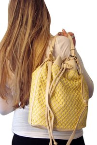 Charlotte Ronson Tote in Yellow/Beige