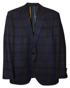 Etro Brown Multi Plaid Blazer