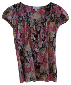 Ann Taylor LOFT Light Weight Floral Top Multiple