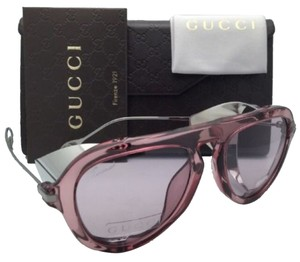 Gucci New GUCCI Sunglasses GG 3737/S R28Z4 51-17 135 Pink & Silver Frame w/Pink Lenses