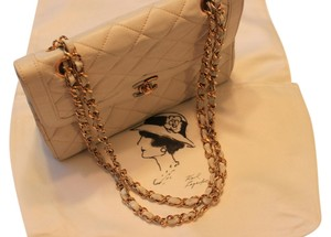 Chanel 255 2.55 Lambskin Cc Dust Shoulder Bag