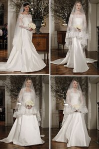 Lace Trimmed Fold Over Bridal Veil (brand New Never Worn)