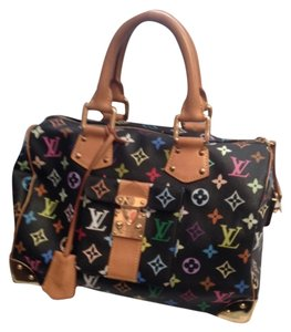 Louis Vuitton Satchel in Multicolor Black