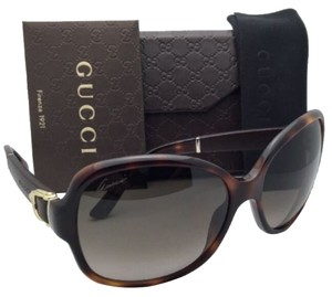 Gucci New GUCCI Sunglasses GG 3638/S 0XTHA 58-16 Havana & Brown Leather w/ Brown Gradient Lenses