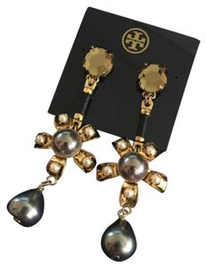 Tory Burch Rowan Flower Drop Earrings