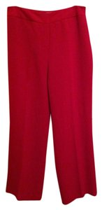 Casual Corner Lined Trouser Pants Deep red