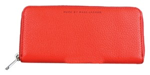 Marc by Marc Jacobs * Marc by Marc Jacobs Red Sophisticato Slim Zip Around Wallet