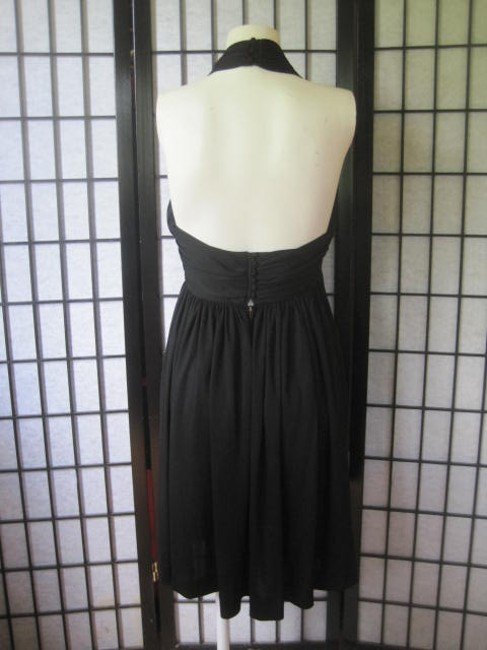 Donald Brooks Vintage Signature Classic Silky 1960s 1970s Party Lbd Little American Designer Sexy Halter Top Sophisticated 60's Dress