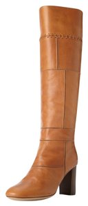 Chloe Whip Stitch Patchwork Leather carmel Boots