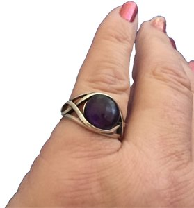 Other Sterling Silver Single Purple Gem Stone Ring Fashion Jewelry Sz 6