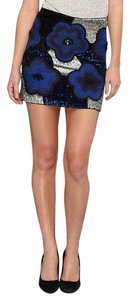 French Connection Mini Skirt Blue multi