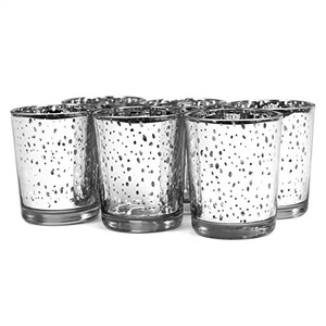 24 Silver Mercury Votives