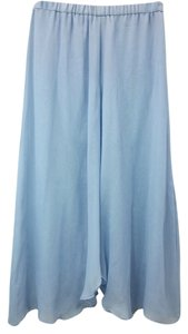 Other Blue Silk Skirt LIGHT BLUE