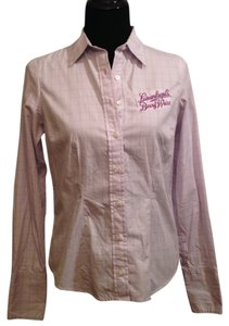 Logo sponsored Leinenkugel's Button Down Button Down Shirt purple