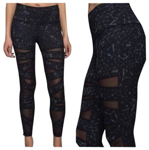 fbef8a7e00273c Lululemon New With Tags Lululemon High Times Tech Mesh Star Crushed Coal  Black Size 2