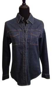David Brooks Shirt Stretch Button Down Shirt denim