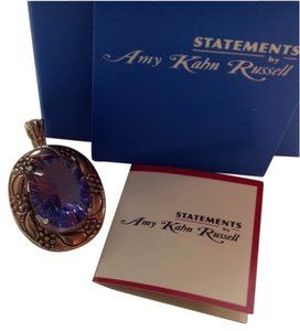 Statement by Amy Kahn Russell New Amy Kahn Russell Bronze 14kt Gold Plated Helenite Charm