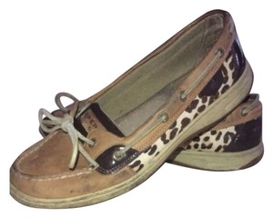Sperry Linen/cheetah Flats