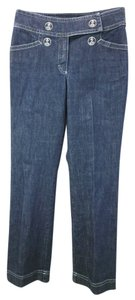 Escada Cotton Denim Stretchy Straight Leg Jeans-Medium Wash
