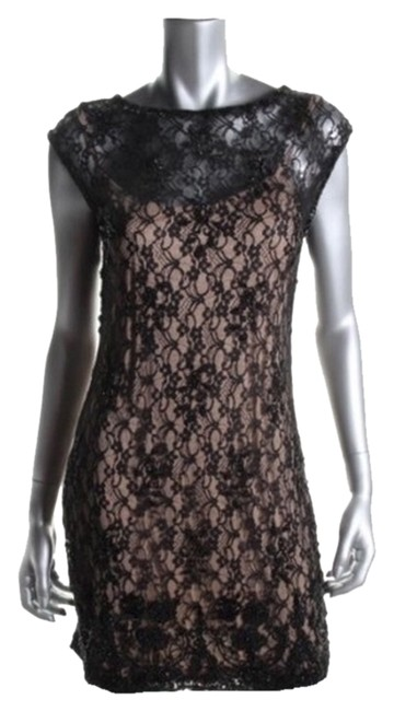 Item - Black Nude Above Knee Cocktail Dress Size 0 (XS)